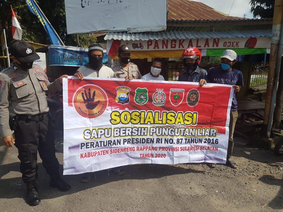 Cegah Penyimpangan, Polres Sidrap Intens Lakukan Sosialisasi Saber Pungli