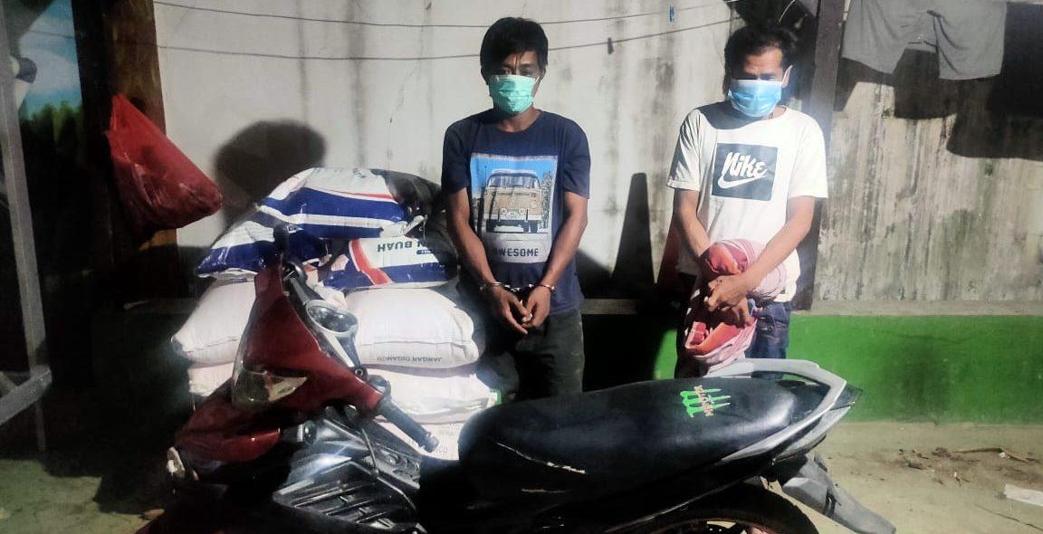 Nyaris Dimassa Saat Dua Buruh Tertangkap Tangan Mencuri Pupuk Petani