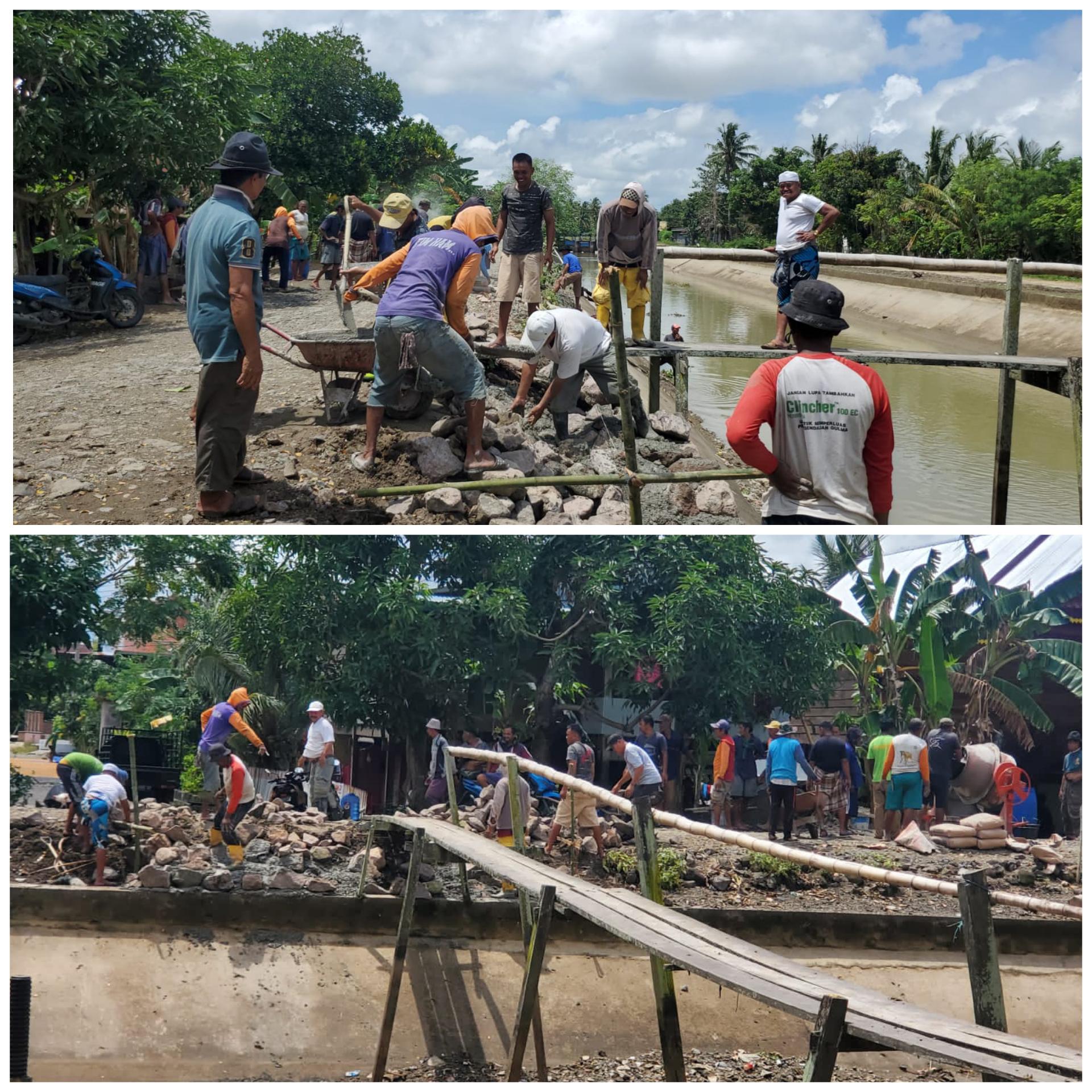 Diinisiasi H Pilli, Warga Baranti Gotong Royong Bangun Jembatan Alternatif
